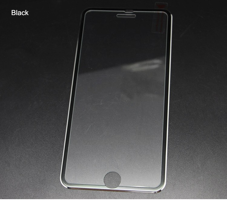 Clear Front Screen Protector for iPhone 7 7 Plus Tempered Glass Full Cover 3D Curved Edge Aluminum Protective Film Full Coverage