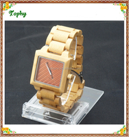 2016 Vogue World Fashion Brand Quartz wood lady watch made of wooden and bamboo material