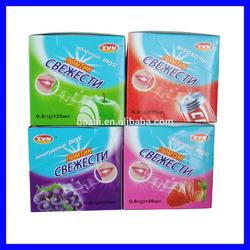 Bozai Assorted fruit/ mint flavor peppermint breath strip confectionery