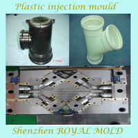 custom pvc pipes fitting parts plastic injection mold