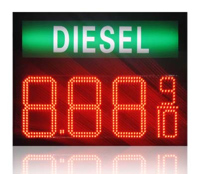 oil price sign countdown timer <strong>led</strong> time display