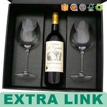 Popular new products fake leather 1 bottle pack wine carrier