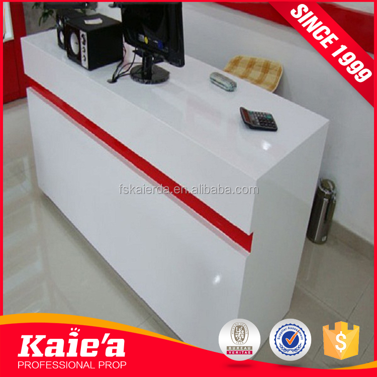 Cheap sale shop cash counter design wooden cashier counter made in china