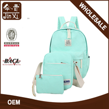 solid color high quality wholesale backpack school