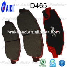 asbestos free brake high level market brake for Japan car high quality semi-metallic & ceramic brake pads D465