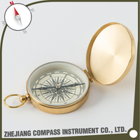 Wholesale brass liquid filled custom pocket compass for promotion gift G501