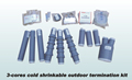 Pre-mold cable termination (cold shrinkable cable accessories)