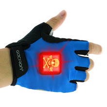LED light for bike gloves can change the battery and rechargeable for the Cycling