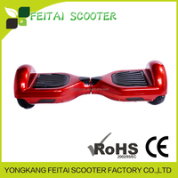Fast shipping 6.5inch 4400mah battery smart balance scooter red