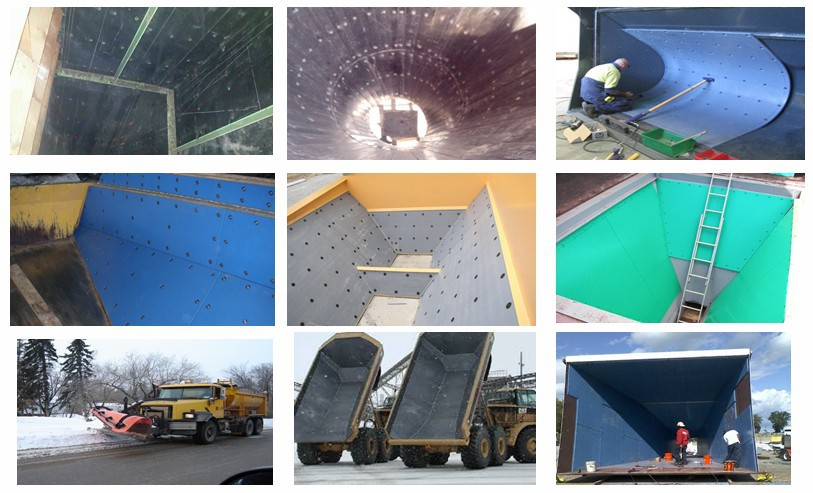 HDPE UHMWPE liner sheet hopper coal box funnel uhmw PE liner