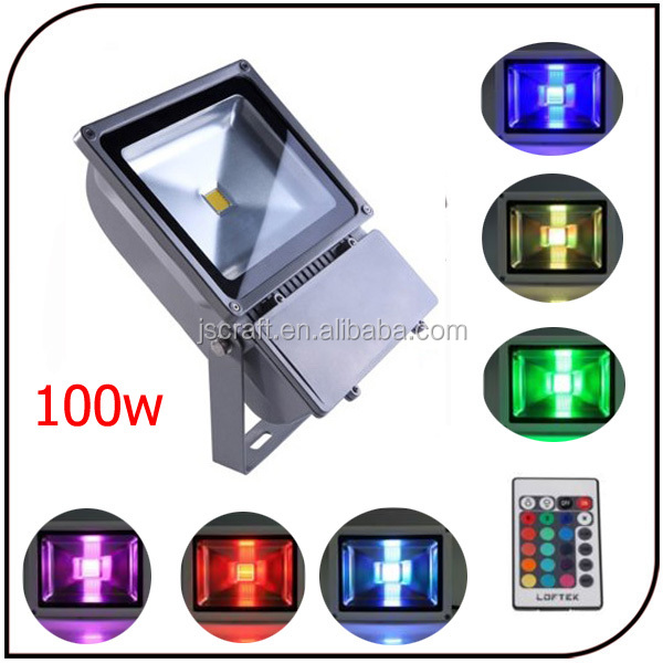 Outdoor 100w high power10000 lumen IP67 RGB 110 volt led flood light