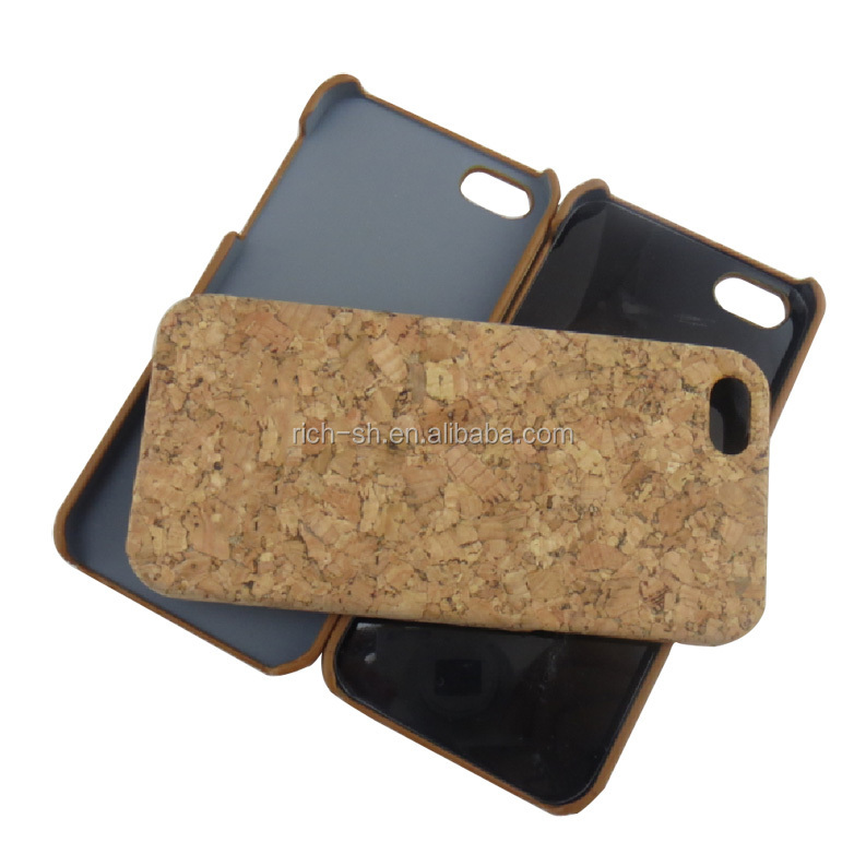 eco-friendly fashionable cork phone cover phone bag for iphone 5