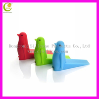Household silicone rubber door stopper colorful baby door guard