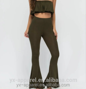 Cocktail Party Tube Top and Pants Set Wide Leg womens jumpsuits sexy bodycon