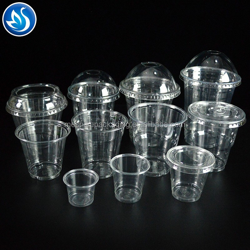 Disposable plastic cup with dome lid