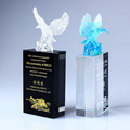 K9 beautiful eagle shape trophy animal crystal award