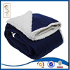 Front Solid Polar Fleece Blanket Back Sherpa Fleece Blanket