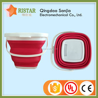 High Quality 10L Plastic Square Camping Folding Bucket Square