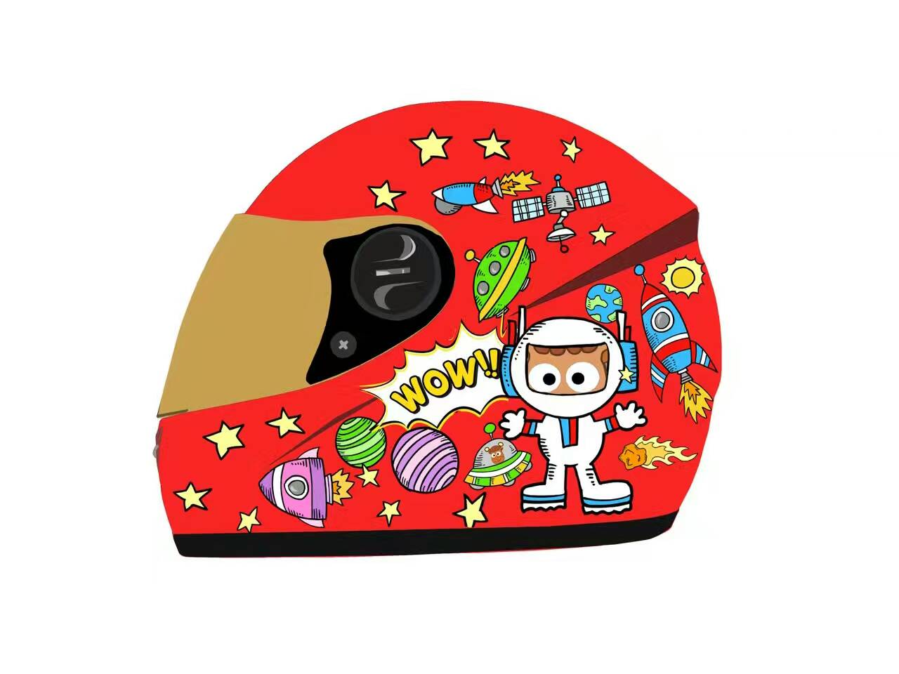 YM-205 full face kids motorcycle helmet toy children helmet for kids