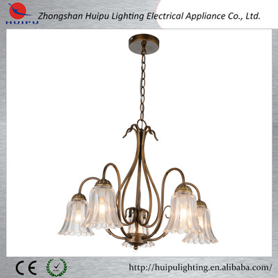Modern high quality industrial large brass chandelier