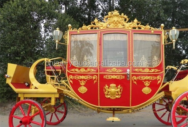 Yizhinuo Royal horse drawn carriage for exhibition royal wagon manufacturer
