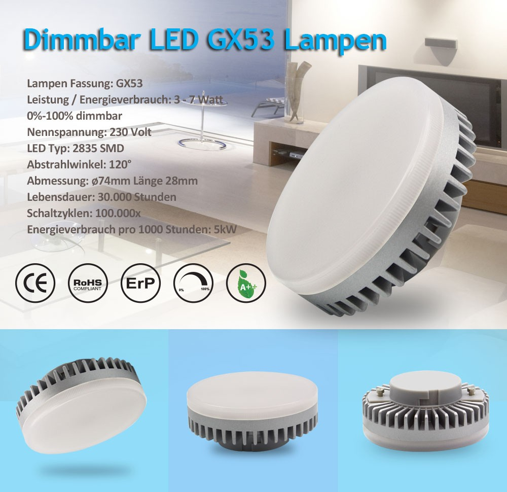 dimmable 7w gx53 led light with ce rohs approved buy gx53 dimmable gx53 7w gx53 product on. Black Bedroom Furniture Sets. Home Design Ideas