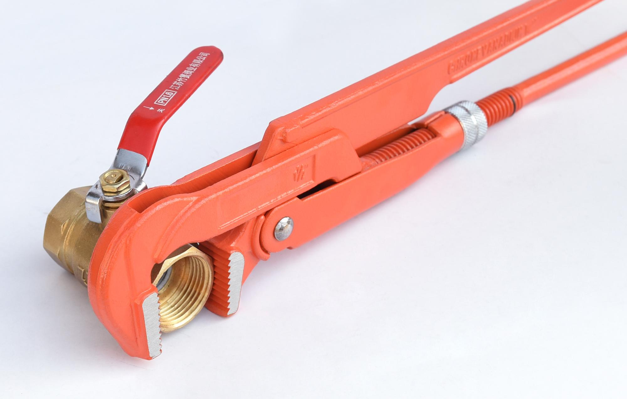 "1"" 90 Degree Drop Forged Carbon Steel CrV Swedish Bent Nose Pipe Wrench Factory"