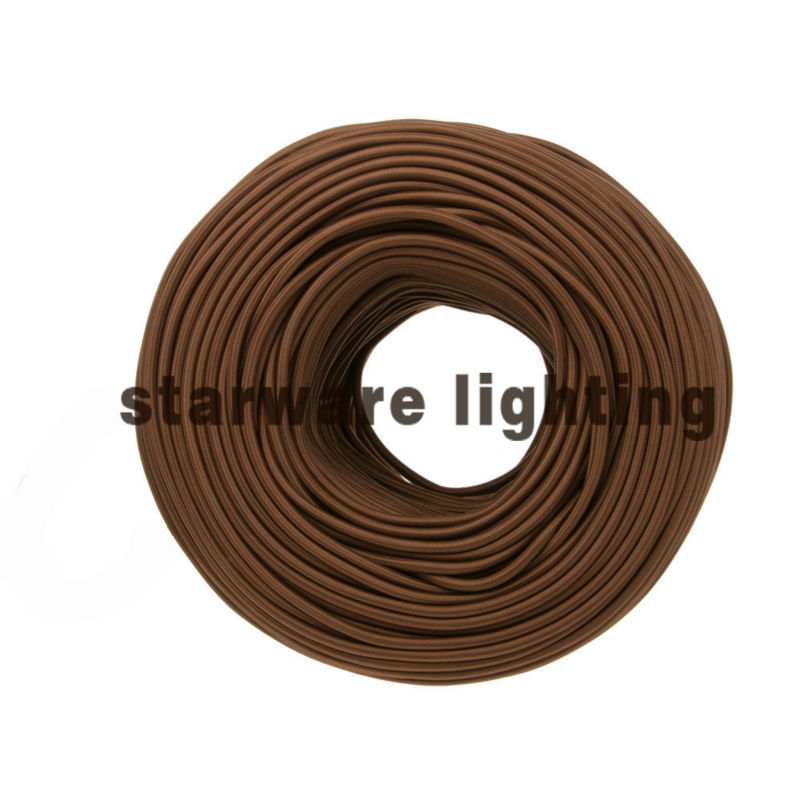 UL CUL Textile Wire Fabric Cable Braided Electrical Wire Cloth Covered Wire/chocolate brown