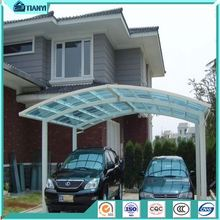 Morden Double Arched Roof Aluminum Canopy Carports