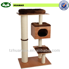medium size sisal solid wood pet product for cat& pet toy