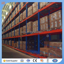 High Quality Storage Racks Metal Sliding Pallet Push Back Racking
