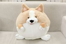 New Arrival Plush Corgi Dog Ball Shape Puppy Pet With Short Leg Stuffed Pillow Cushion Toy Gift Freeshipping