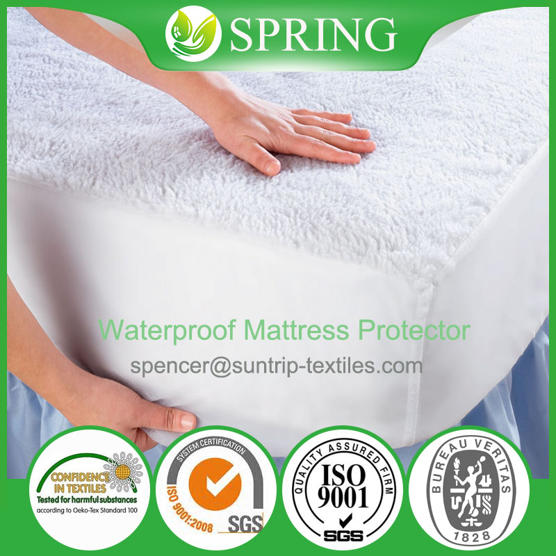 Deep Pocket 5 sided waterproof Elastic Mattress cover- Machine washable Vinyl Free