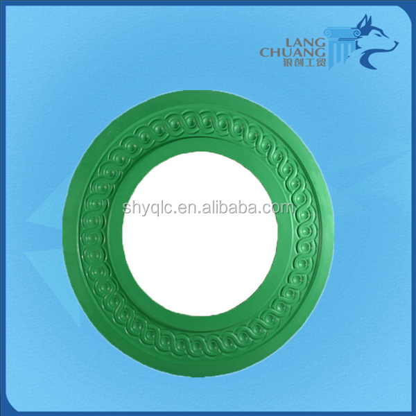 Various Design Customized Green Color Nice Gypsum Ceiling Rose Mould
