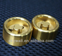 Custom precision polished brass hardware product