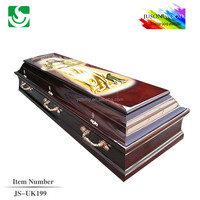 JS-UK199 Chinese manufacturer made wholesale best price mdf casket coffin
