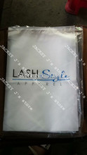 Custom Printed White Block Slider Seal Zip Lock Plastic Bags Clear Front Frosted Back 30x40cm