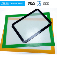 red color rectangle kitchen utensils custom non-stick silicone baking mat with custom printing