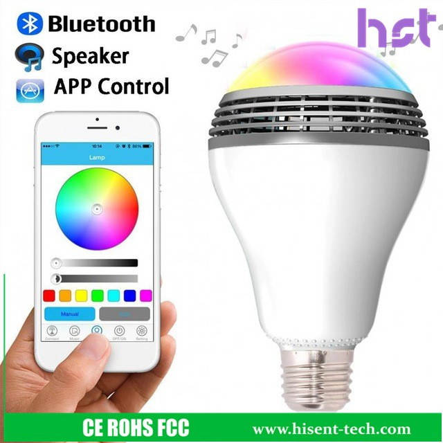 new products 2016 bluetooth speaker led light bulb