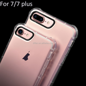 DFIFAN for iphone 7 Clear Shockproof Soft TPU case Transparent Protective Mobile Phone Cases for iphone 7plus case cover