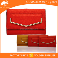 Multicolor PU leather ladies wallet and purses mobile size 15SW-(4375-4377)D