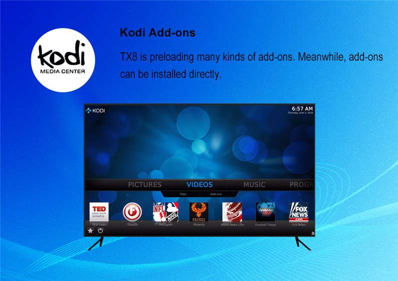 OEM/ODM support model Amlogic s912 TX8 2G 32G TV Box android 6.0 Octa core media player