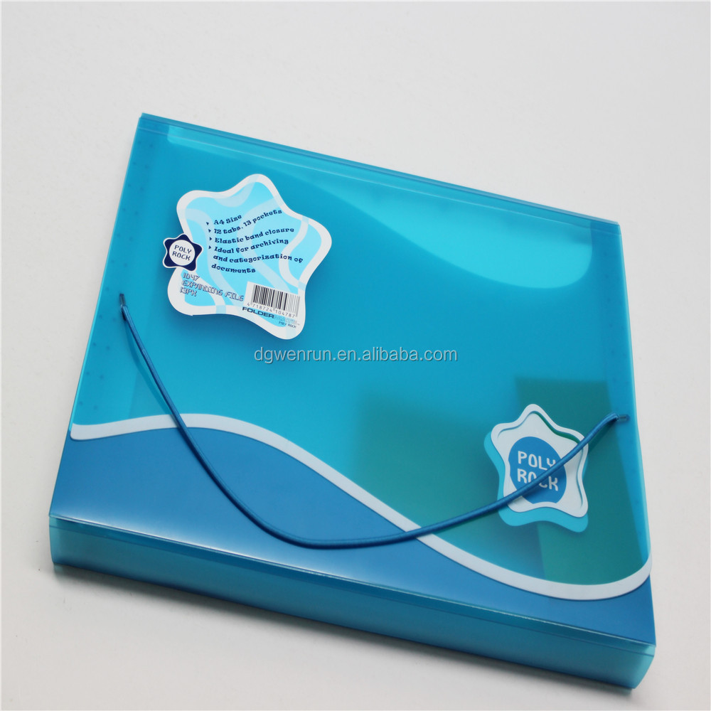 Stationery file folder plastic document case