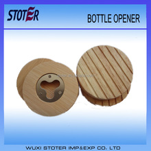 round wooden personalized bottle openers new design beer battle openers