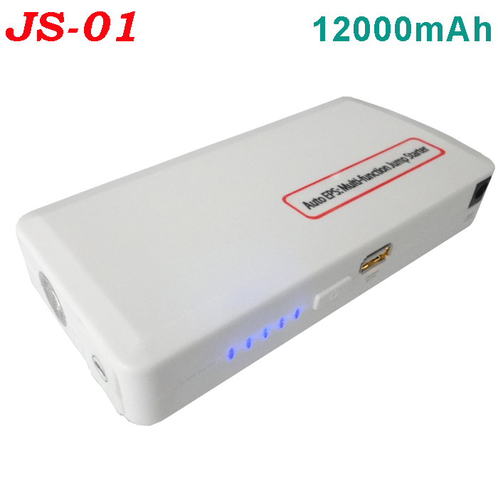 TOP SALE multi-functional Car emergency tool JS01 12000mAh car jump starter for 12V vehicles car eps power bank