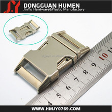high quality bulk metal dog collar buckle/25mm side release buckle/insert buckle for dog collar/bad accessories