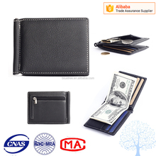 money clip wallet for man Smart leather design mens clip wallet