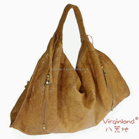 8846 High Quality Fashion Handmade Italian Genuine Leather Hobo Bag Handbag -Brown Color