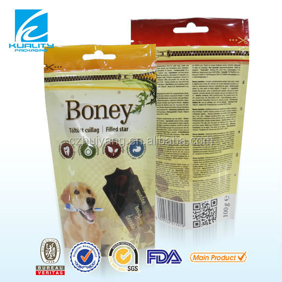 plastic packaging air tight pet food packaging bag