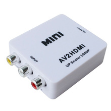 High quality mini 1080P AV to HDIN Converter, HD HDIN 2AV video converter
